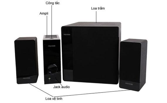Loa Microlab FC 360/2.1 ampli riêng