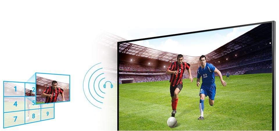 Hiệu ứng âm thanh vòm đa kênh mạnh mẽ trên Tivi Led Kỹ Thuật Số Samsung UA32H4100AK cho bạn trải nghiệm âm thanh vô cùng sống động.