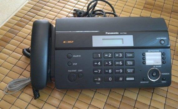 Máy fax Panasonic KX-FT983 có thiết kế gọn gàng