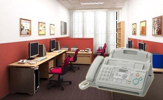 Máy fax Panasonic KX-FP701 có thiết kế gọn gàng
