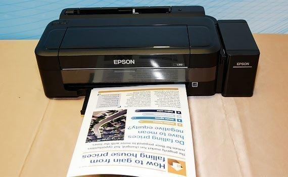 Máy in phun Epson L310 có thiết kế hiện đại