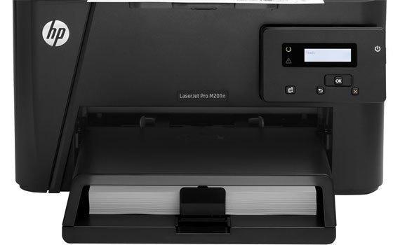 Máy in laser HP Pro M201DW trang bị màn hình LCD