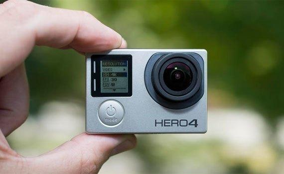 Máy quay phim GoPro Hero4 Black với thiết kế nhỏ gọn, độ bền cao