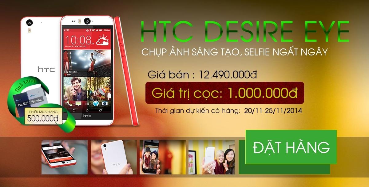 Siêu phẩm selfie điện thoại di động HTC Desire Eye chụp hình tự sướng cực kool, cực đã, sắp ra mắt