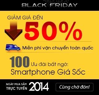 Khuyến mãi sale off ngày black friday 2014 - ngày mua sắm trực tuyến 2014 (online black friday 2014) giá rẻ giảm đến 50% mua điện thoại nokia lumia giá rẻ nhất, miễn phí giao hàng toàn quốc, duy nhất trong ngày black friday 5/12/2014