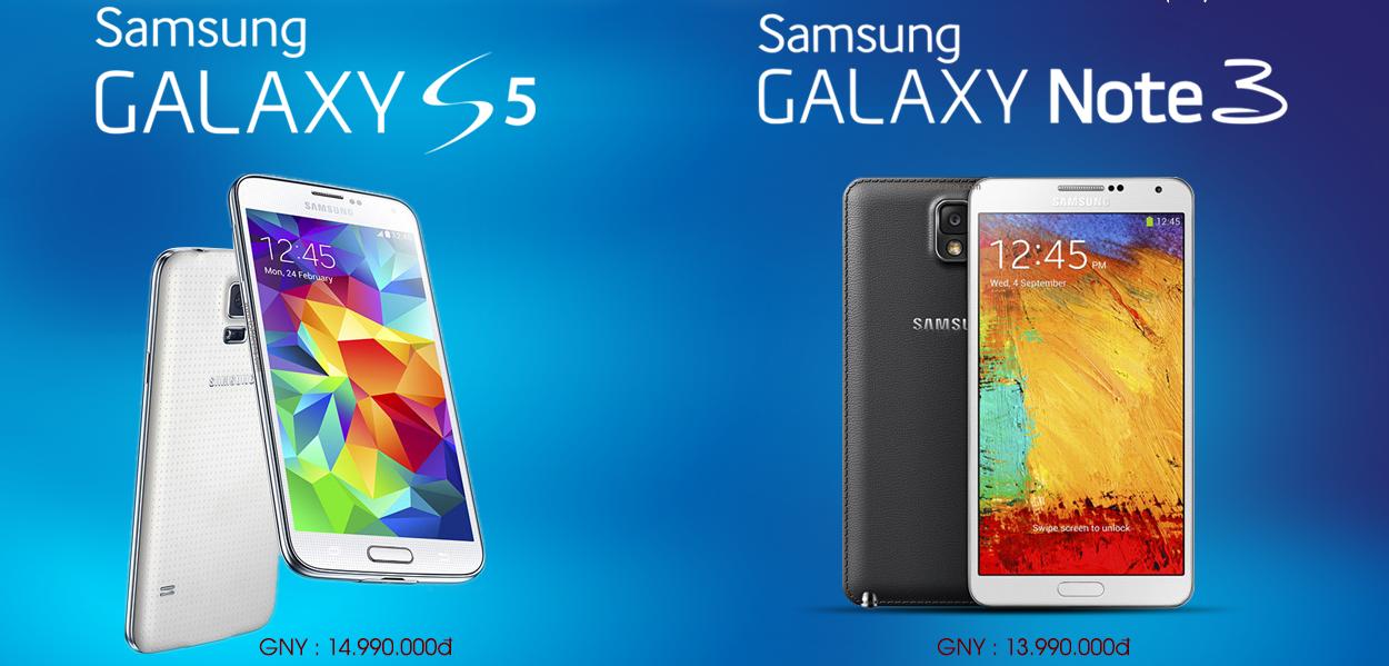 Samsung Galaxy S5 - Galaxy Note 3
