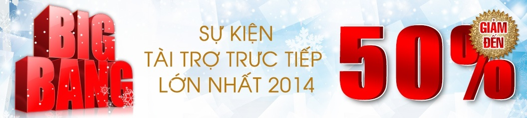 Big Bang - Tài trợ trực tiếp lớn nhất 2014 tại Nguyễn Kim
