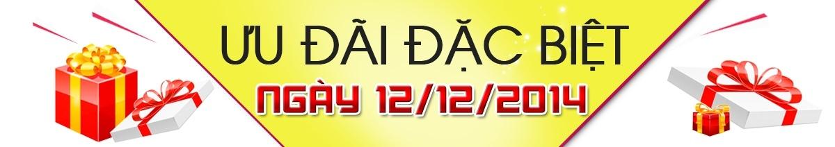 Chương trình khuyến mãi đặc biệt ngày 12/12/2014 (Mua hàng online nhận quà hấp dẫn duy nhất lúc 12:12:12 PM)