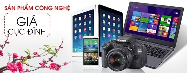 Sản phẩm công nghệ giá cực đỉnh, máy tính bảng, điện thoại, laptop, tủ lạnh giá rẻ nhất, khuyến mãi vàng