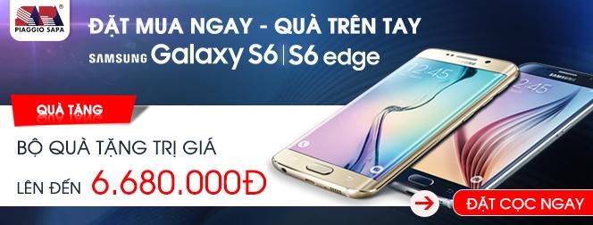 mua Samsung Galaxy S6, mua Samsung Galaxy S6 EDGE giá ưu đãi nhiều khuyến mãi hấp dẫn có giá trị tại Nguyễn Kim