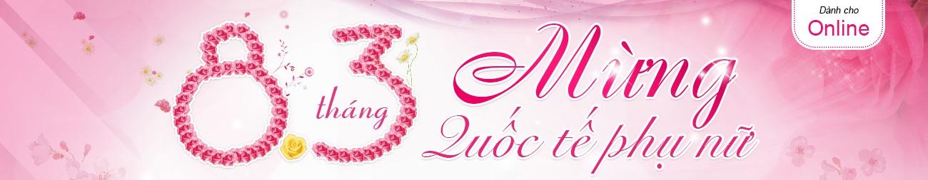 Mua hàng online giá rẻ đặc biệt từ 8H00 NGÀY 08/03/2015 Nguyễn Kim dành tặng 83 bông hồng ( 1 bông hồng: 200.000đ) cho 83 khách hàng đầu tiên mua hàng với hóa đơn từ 2.500.000đ trở lên.