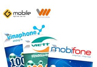 Thẻ cào,thu cước điện thoại-Giảm đến 5%