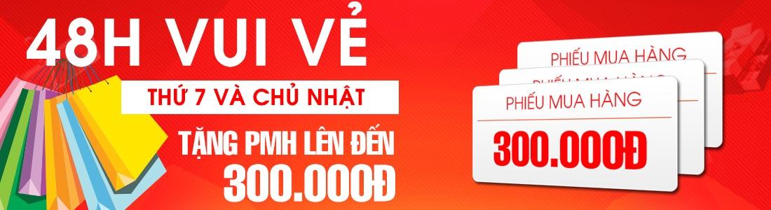 Khuyến mãi vui vẻ mua sắm cuối tuần từ 16/03/2015 – 29/03/2015 tại Nguyễn Kim. Khách hàng gọi điện thoại 1900 1267 bấm phím số 1 để được đặt hàng nhanh nhất có cơ hội được phiếu mua hàng có giá trị cao