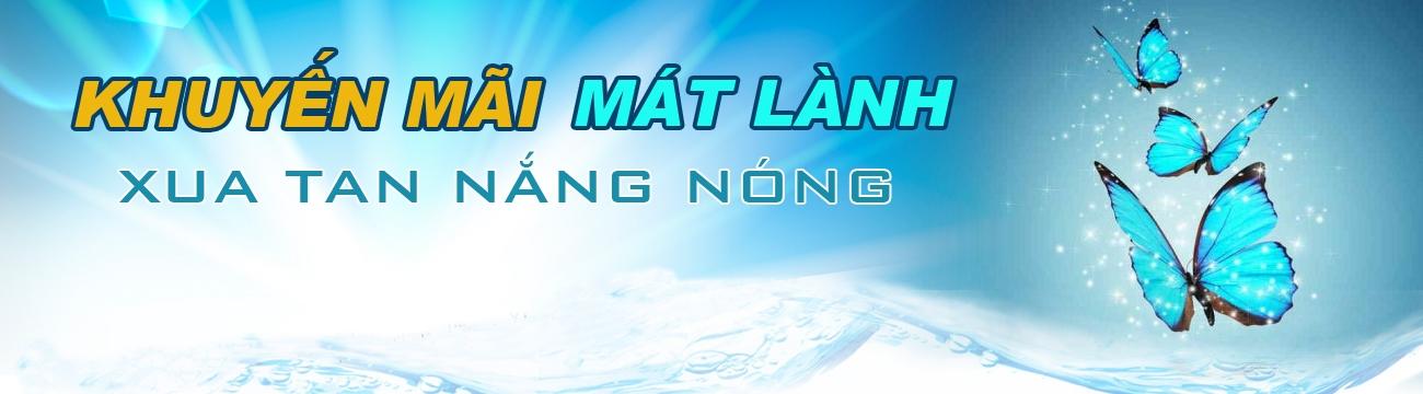 Chương trình khuyến mãi mát lành xua tan nắng nóng dành cho khách mua hàng khu vực Quận 1 và Bình Tây (TP HCM), bao gồm khách mua hàng Online và đến trực tiếp Trung tâm Mua sắm Nguyễn Kim Quận 1, Nguyễn Kim Bình Tây.