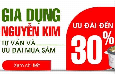 Khuyến mãi song hành gia dụng 2015 giảm giá rẻ đến 30% cho quạt máy, nồi cơm điện, bếp điện, máy lọc nước giá rẻ nhất tại Nguyễn Kim