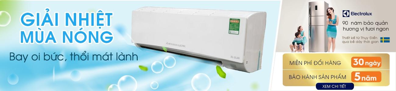 Chương trình khuyến mãi Giải nhiệt mùa nóng - Bay oi bức, thổi mát lành tủ lạnh, máy lạnh giá rẻ khuyến mãi, máy lạnh trả góp lãi suất 0%, khuyến mãi nguyễn kim tri ân khách hàng 2015