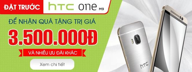 Khuyến mãi preorder sản phẩm HTC One M9