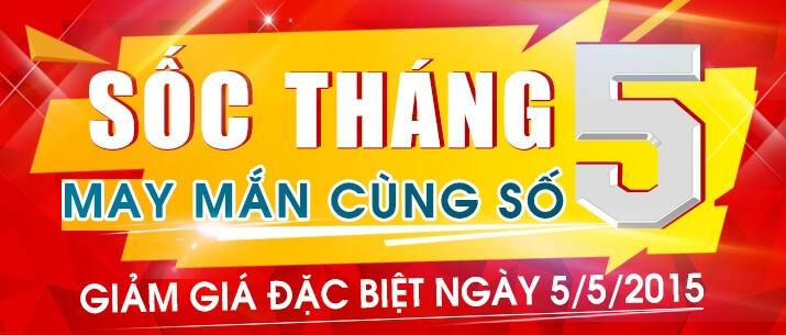 Khuyến mãi đặc biệt ngày 5-5-2015, mua hàng online giá cực rẻ tại nguyenkim.com