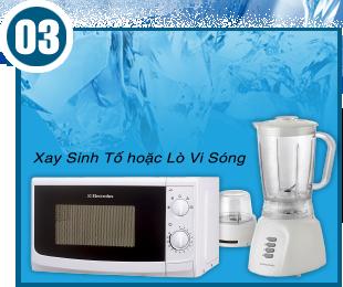 Khuyến mãi mua điện lạnh giá ưu đãi tặng ngay máy xay sinh tố hoặc lò vi sóng, giá tốt nhất tại Nguyễn Kim.
