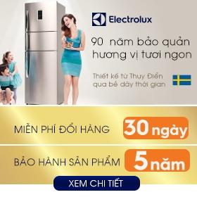 Khuyến mãi tủ lạnh Electrolux giá rẻ nhất miễn phí đổi trả hàng 30 ngày, bảo hành 5 năm với giá cả ưu đãi cực kỳ cạnh tranh tại nguyenkim.com