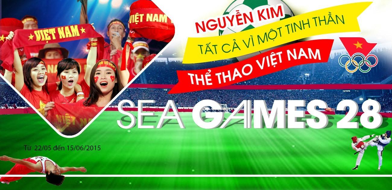 Khuyến mãi Sea Games 28 tất cả vì một tính thần thể thao việt nam mua hàng Nguyễn Kim Online giảm giá rẻ quà hấp dẫn tại nguyenkim.com