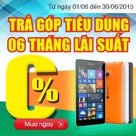 Khuyến mãi mua điện thoại Nokia Lumia, Microsoft Lumia giá rẻ nhất trả góp lãi suất 0%
