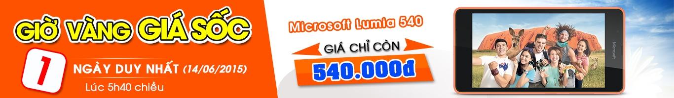 Mua microsoft Lumia 540 giá ưu đãi, chỉ có 1 ngày 14/06/2015 tại Nguyễn Kim