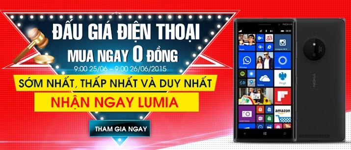 tham gia đấu giá điện thoại Lumia 0 đồng tại Nguyễn Kim