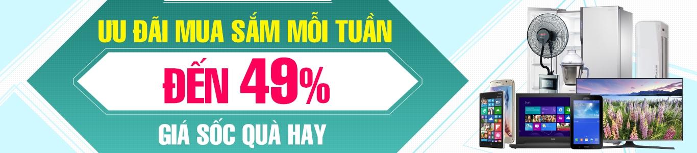 Khuyến mãi lớn ưu đãi giá sốc giảm giá mỗi tuần, mua hàng online điện lạnh, điện tử, gia dụng, viễn thông, tin học, giải trí tại Nguyễn Kim