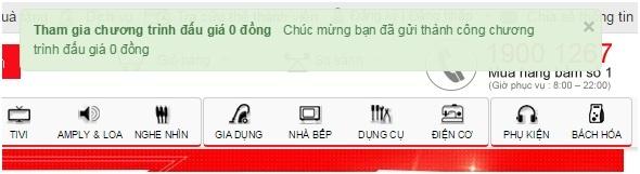 Tham gia chương trình đấu giá 0 đồng tại Nguyễn Kim