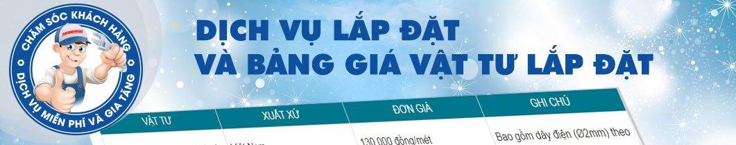 Dịch vụ lắp đặt và bảng giá vật tư tại Nguyễn Kim Online