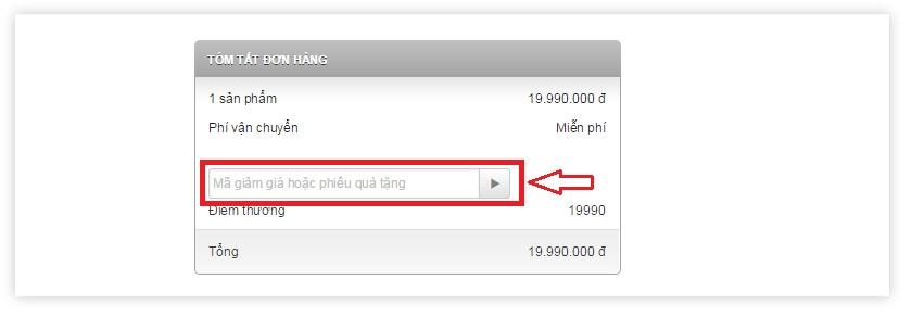 Nhập mã giảm giá thanh toán tiền, mua hàng online giảm giá tại Nguyễn Kim
