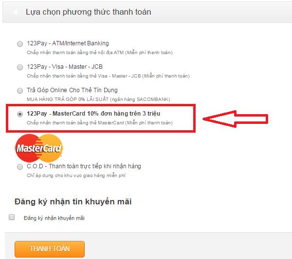 phương thức thanh toán, mua hàng online giảm giá, mua hàng giảm giá, khuyến mãi giá rẻ, hotline 1900 1267 bấm phím 1