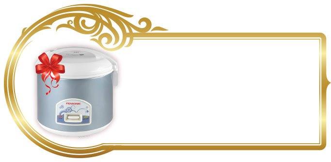 quà tặng đầu tiên, quà tặng nồi cơm điện, nồi cơm điện cao cấp, nồi cơm điện PENSONIC PSR-17NC/18ES, mua sắm online, mua hàng online giá rẻ tại Nguyễn Kim