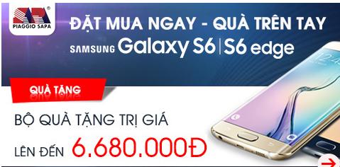 Đặt hàng mua samsung galaxy s6, galaxy s6 edge với nhiều ưu đãi quà tặng hấp dẫn tại nguyenkim.com