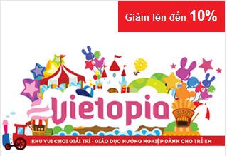 Ngày mua sắm trực tuyến 2015 Thỏa thích vui chơi cùng Vietopia - Đặt vé mua thẻ vietopia giá rẻ nhất tại Nguyễn Kim