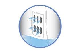 Bộ lọc xơ vải của máy giặt Sanyo ASW-S70V1T(H2) được cải tiến, đẹp và bền