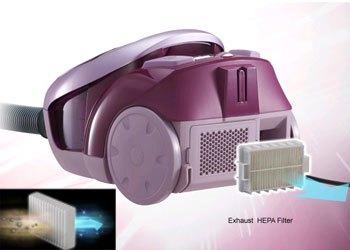 Máy hút bụi Panasonic MC-CL453RN46 trang bị bộ lọc HEPA kháng khuẩn