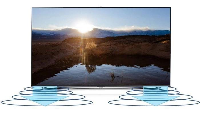 Tivi LED Samsung UA55JU7000 âm thanh 3D sống động