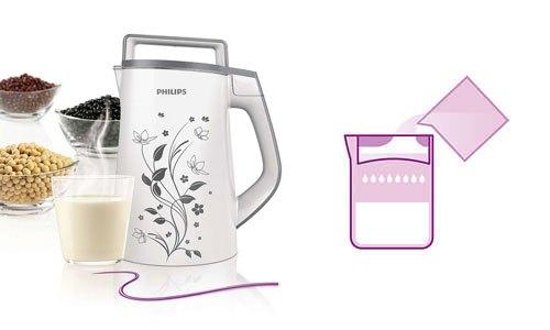 Máy làm sữa đậu nành Philips HD2072/02 1.3 lít dễ dàng lọc với chỉ 1 lần rót
