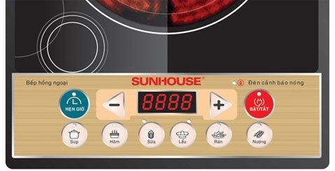 Bếp hồng ngoại Sunhouse SHD6002 trang bị màn hình LED rõ ràng