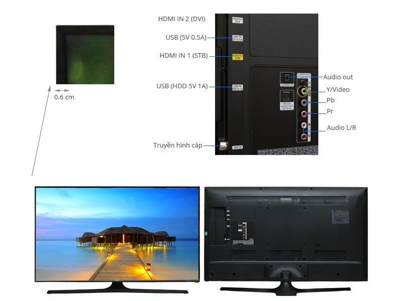 Mô tả chi tiết Tivi LED Samsung UA43J5100