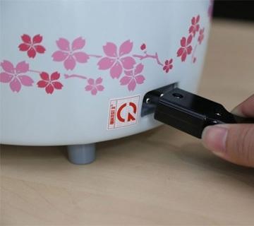 Nồi cơm điện Sharp KSH-315V có dây điện có thể tháo rời