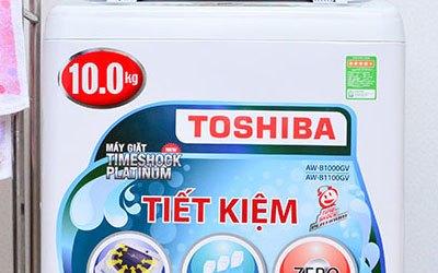 Máy giặt Toshiba AW-B1100GV xám bạc có khối lượng giặt 10 kg