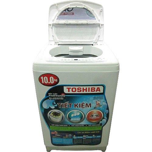 Máy giặt Toshiba AW-B1100GV 10 kg xám bạc tiết kiệm nước hiệu quả