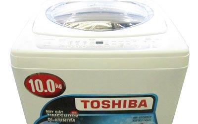 Máy giặt Toshiba AW-B1100GV 10 kg xám bạc có 6 chương trình giặt