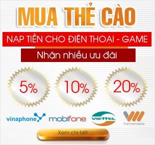 Nap tien dien thoai online mang viettel vina mobifone, thanh toan thue bao di dong tra truoc truc tuyen voi dịch vu topup nap tien game online khuyen mai 50%