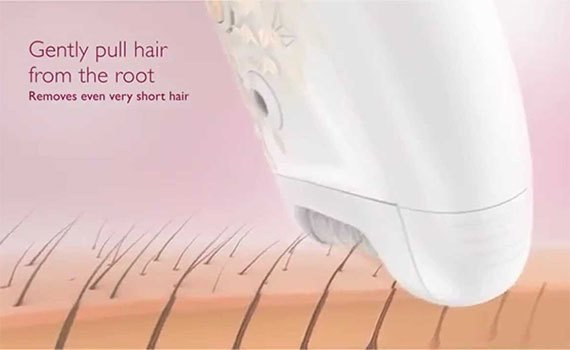 Máy nhổ lông cho nữ Philips HP6549 cho hiệu quả 4 tuần