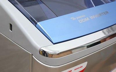 Máy giặt Sanyo ASW-DQ900HT 9 kg bạc là máy giặt Inverter tiết kiệm điện