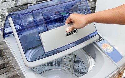 Máy giặt hãng nào tốt? Máy giặt Sanyo ASW-U800Z1T 8 kg bạc